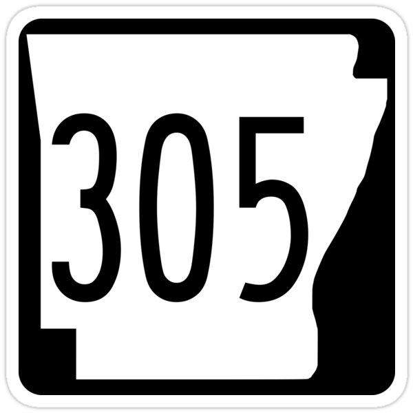 Arkansas State Highway AR 305 (1970) | United States Highway Shield Sign
