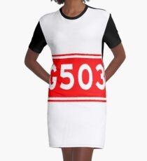 G503国道 | China National Highway Route Number Sign Graphic T-Shirt Dress