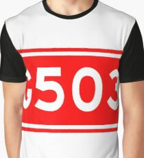 G503国道 | China National Highway Route Number Sign Graphic T-Shirt