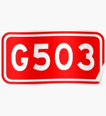 G503国道 | China National Highway Route Number Sign Poster