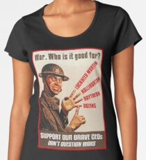 War. Who is it good for? Women's Premium T-Shirt