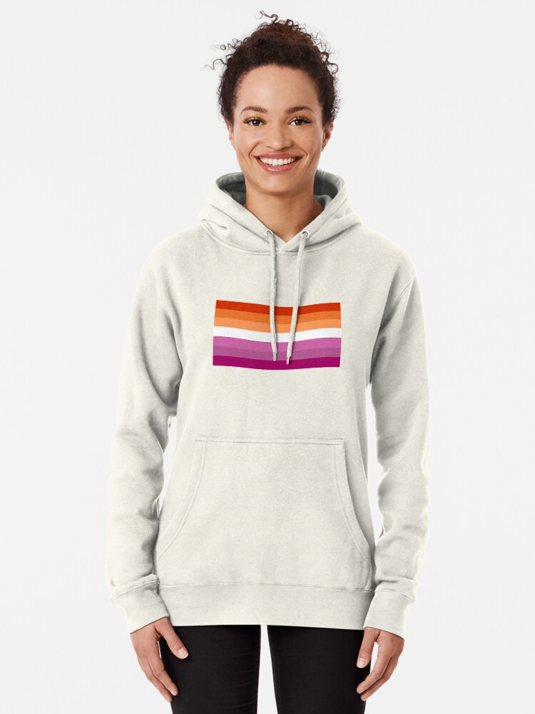 Alternative Ansicht von Orange - Magenta Linien // Lesben Pride Flag // Butch Femme Pride Flagge Hoodie