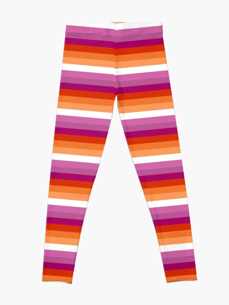 Alternative Ansicht von Orange - Magenta Linien // Lesben Pride Flag // Butch Femme Pride Flagge Leggings