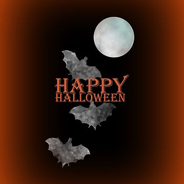Bats And The Moonlight - Happy Halloween by kathlesa