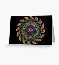Fire Mandala Greeting Card