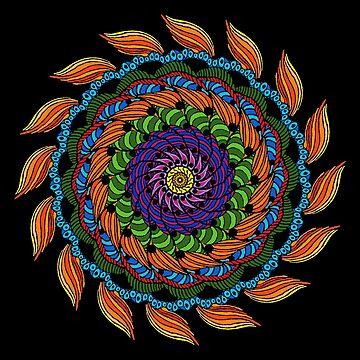 Fire Mandala by BHDigitalArt