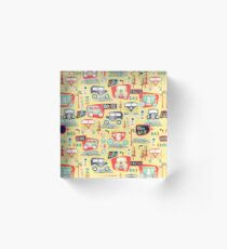 Travel Back in Time Acrylic Block