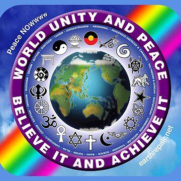 World Unity & Peace Floor Pillows by EarthRepair