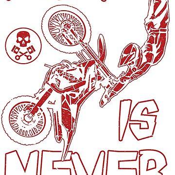 Dirt Bike Motocross Never Fear Red by offroadstyles