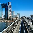 Tokyo seen from monorail by wilderpisces