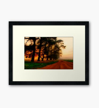 """The Mood of the Morning"" Framed Print"