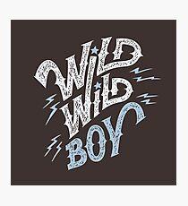 Wild Wild Boy Photographic Print