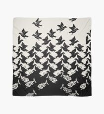 Fish and Birds Art Deco Tessellation Scarf