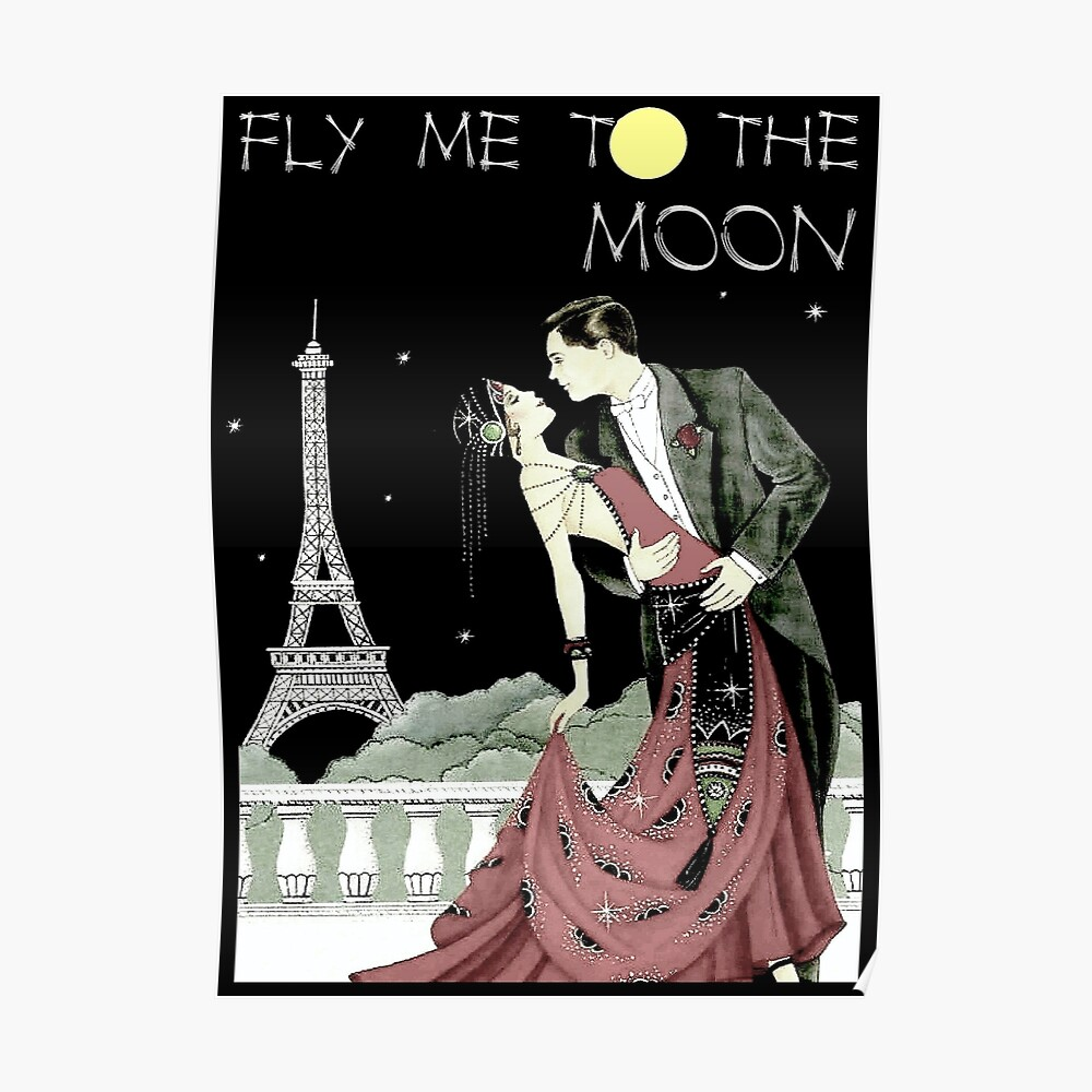 FLY ME TO THE MOON: Vintage Music Advertising Print Poster