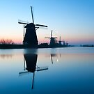 Iconic Windmills of Kinderdijk, The Netherlands by Yen Baet