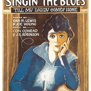 Vintage Sheet Music Cover Singing The Blues 1920 by AllVintageArt