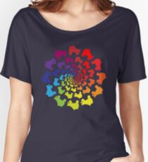 Kreis Regenbogen Skate Loose Fit T-Shirt