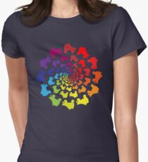 circle rainbow skate Women's Fitted T-Shirt