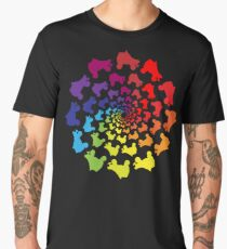 circle rainbow skate Men's Premium T-Shirt