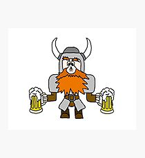 Funny Viking with Fly on Nose Photographic Print