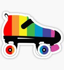 Regenbogen Stolz Roller Derby Skate Stripes Sticker