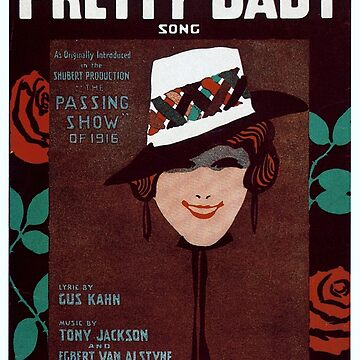 Vintage Sheet Music Songbook Cover Pretty Baby 1916 by AllVintageArt