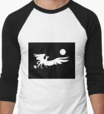 dark unicorn lunar night, wings of life. Men's Baseball ¾ T-Shirt