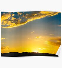 Golden Sunsets in Colorado Springs Poster