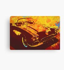1960 Corvette Pop Red Canvas Print