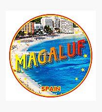 Magaluf, Magaluf poster, tshirt, Spain, beach, photo Photographic Print