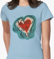 love love love Women's Fitted T-Shirt