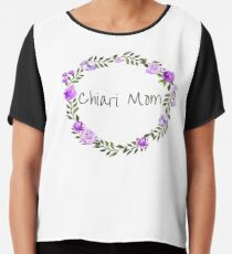 Chiari Mom With Purple Wreath Chiffon Top
