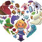 Alice in Wonderland Heart by lennywen
