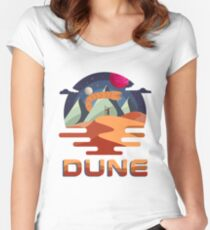 Dune Vintage Retro Movie Graphic Fitted Scoop T-Shirt