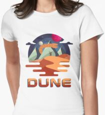 Dune Vintage Retro Movie Graphic Women's Fitted T-Shirt