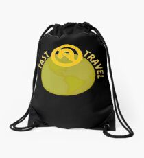 Fast Travel Drawstring Bag