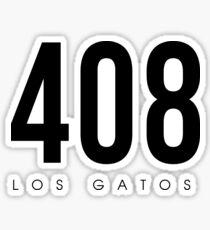 Pegatina Los Gatos, CA - 408 diseño del código de área