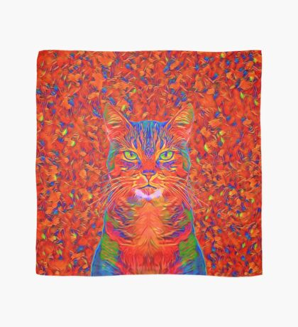 Red Cat Scarf