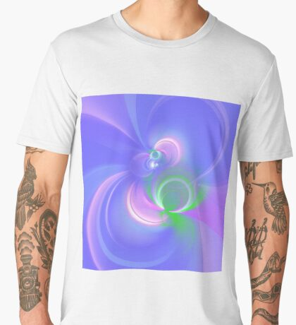 Abstract fractal colors Men's Premium T-Shirt