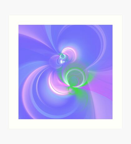Abstract fractal colors Art Print
