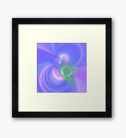 Abstract fractal colors Framed Print