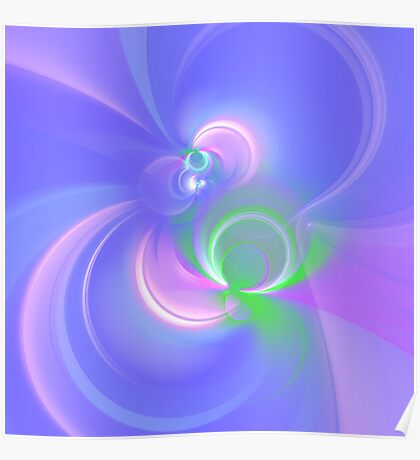 Abstract fractal colors Poster