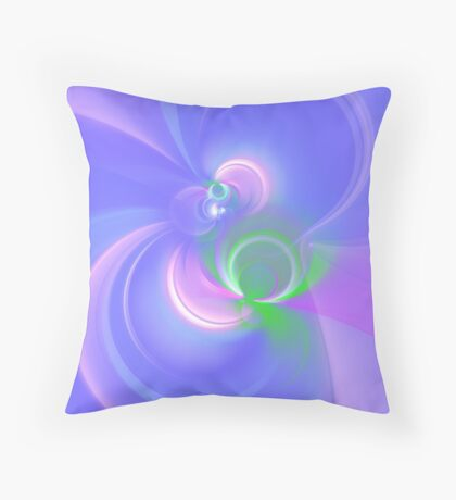 Abstract fractal colors Throw Pillow
