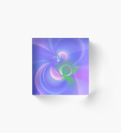 Abstract fractal colors Acrylic Block