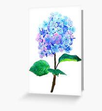 blaue lila Hortensie Grußkarte