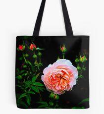 Peach Floribunda Rose With Buds  #4 Tote Bag