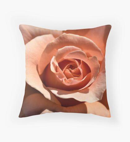 Peach Rose-The Inside Story Throw Pillow