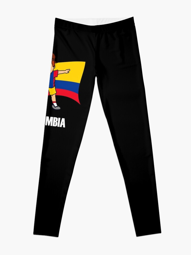 01243445b Dabbing Soccer Girl Colombia Soccer Jersey Shirt Colombia Flag Leggings