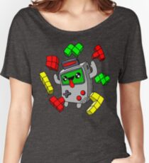 Tetris and Game Boy grey Women's Relaxed Fit T-Shirt