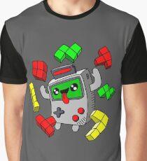 Tetris and Game Boy grey Graphic T-Shirt